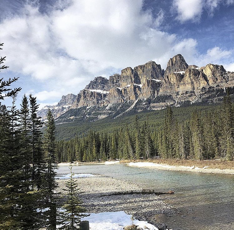 Castle Mountain, get a peek at this stunning mountain on the drive from Calgary to Lake Louise!