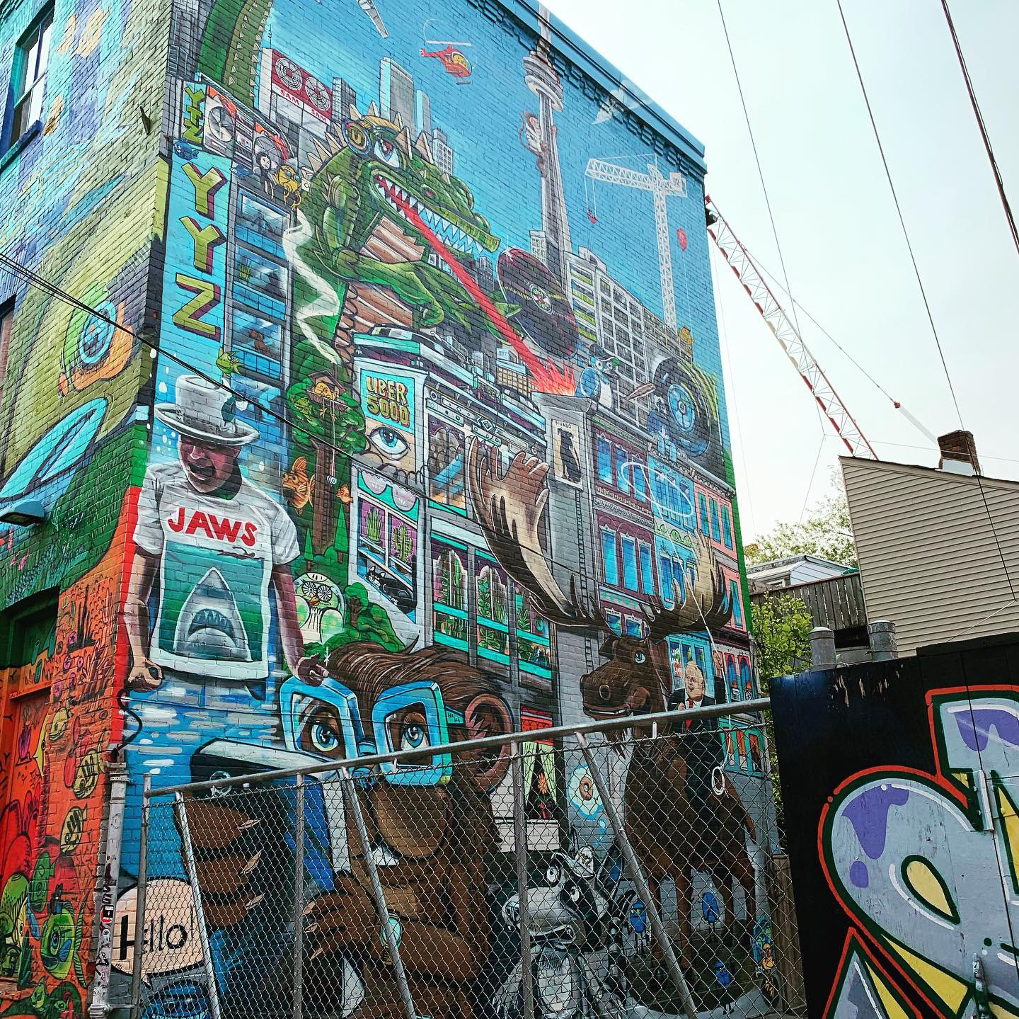 Graffiti Alley - awesome street art and also a way to walk off the delicious cookie from Le Gourmand