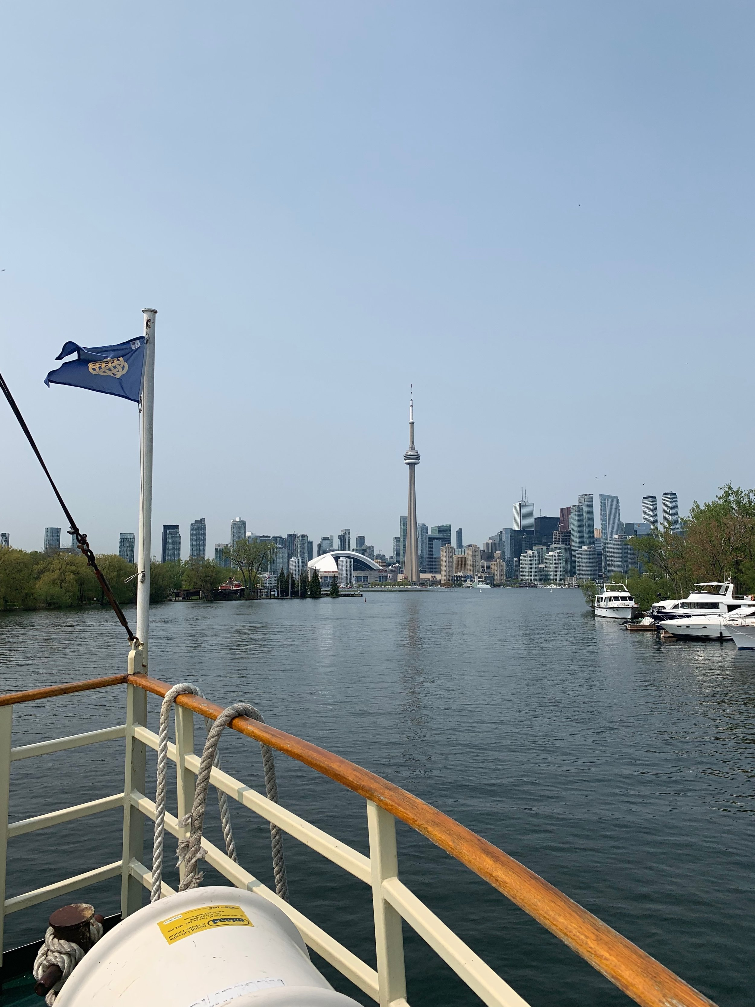 Peaceful Toronto Islands and view of the bustling downtown