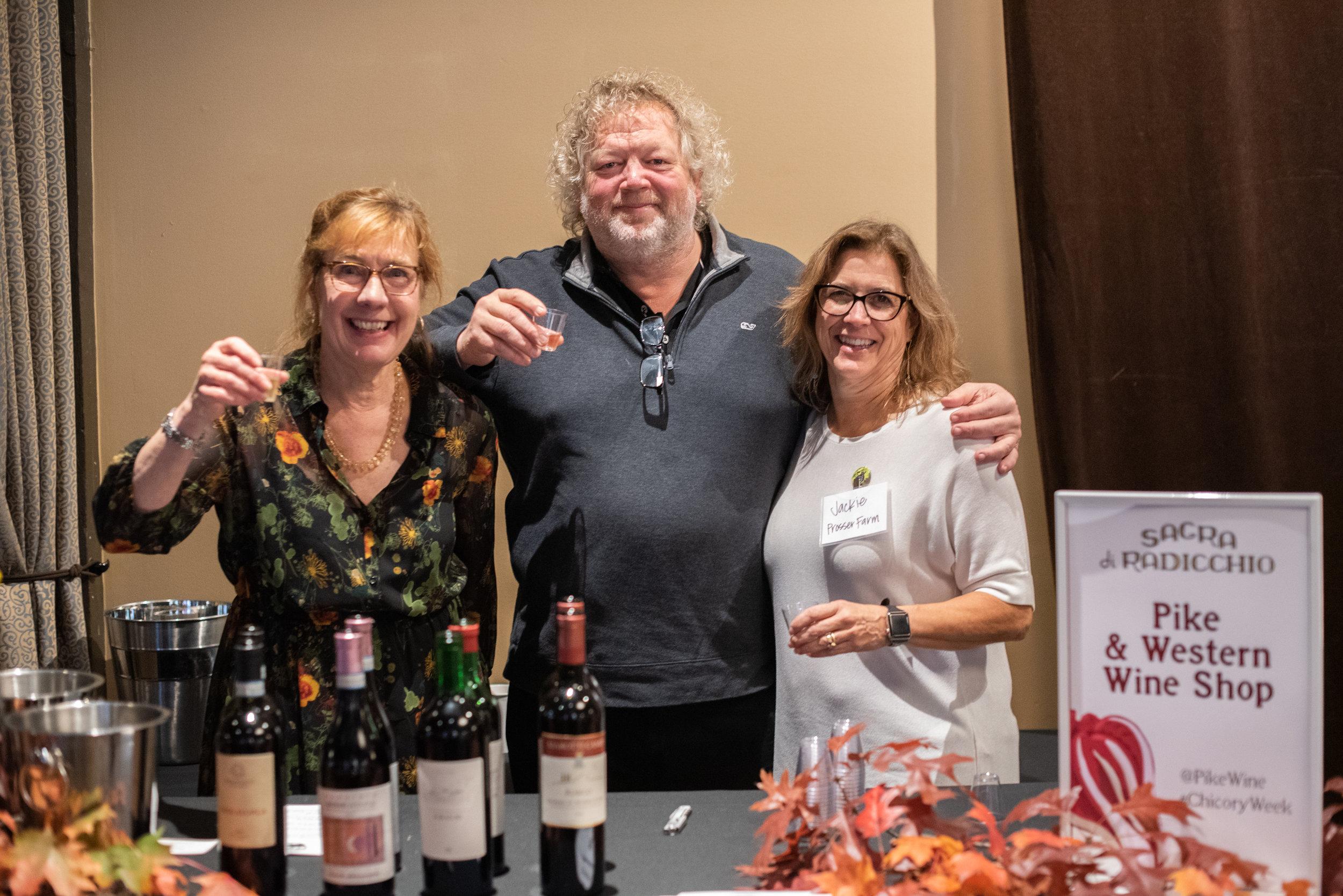 Tom & Jackie and Pike & Western wine friends.