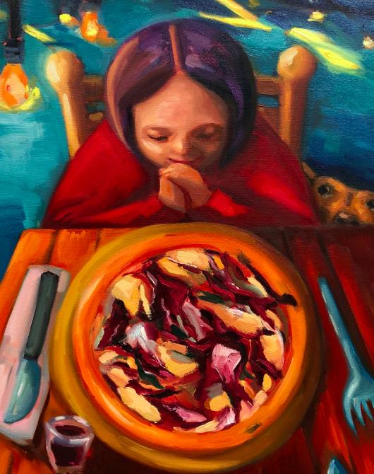 Oil painting by Seattle artist Ebru Esra.