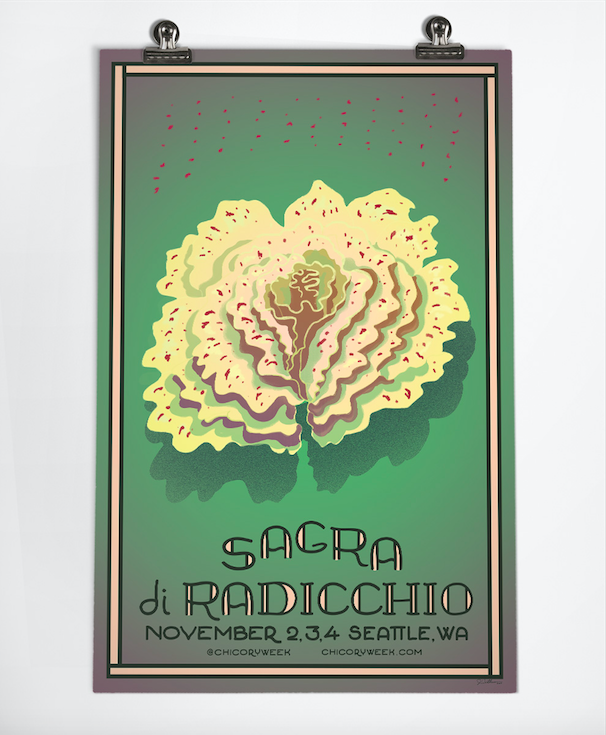 One of Joe Wirtheim's beautiful commissioned posters for the 2018 Sagra di Radicchio