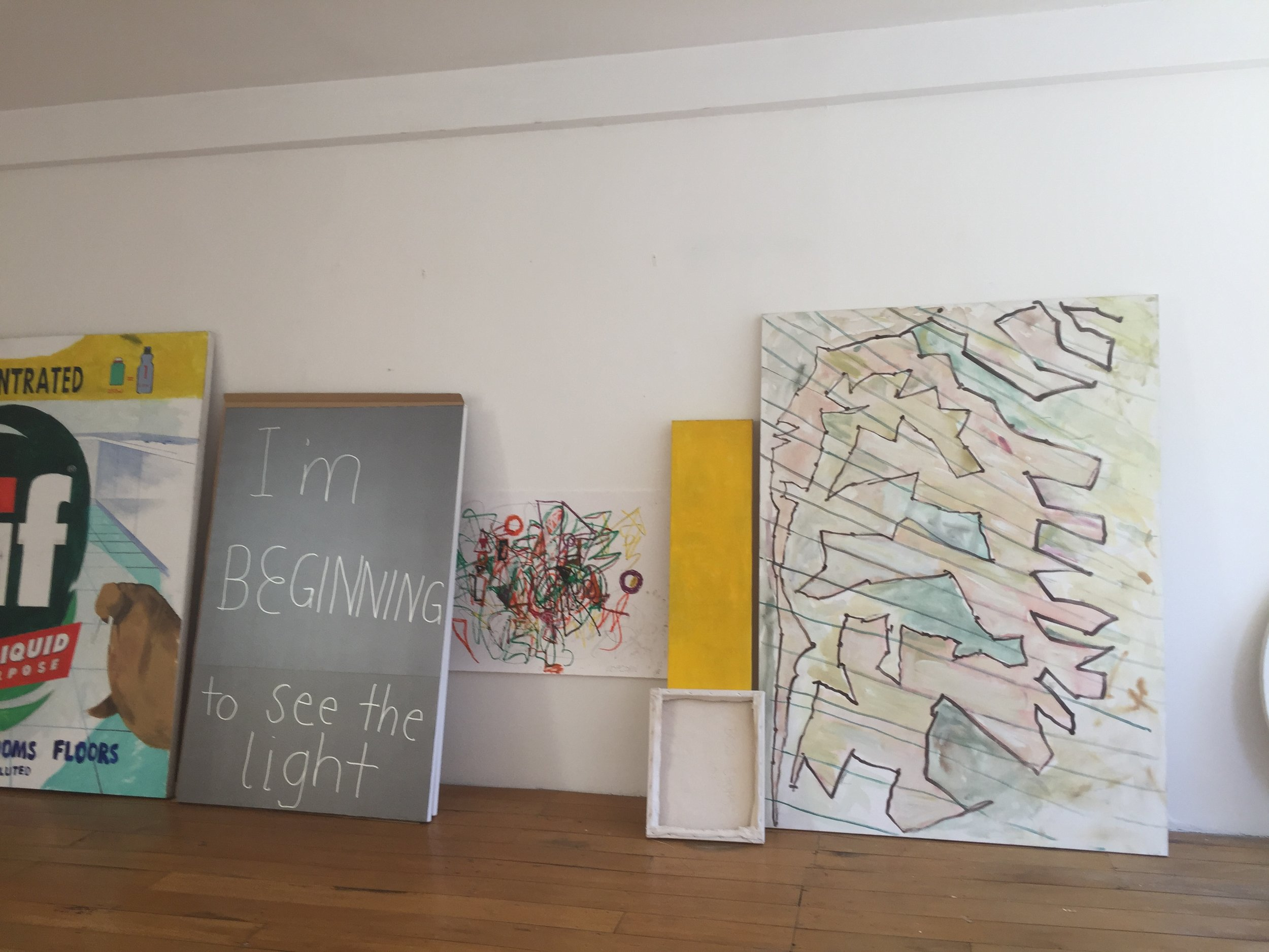 Preparing artworks for removal to The Kreisler Gallery's new premises 2019.