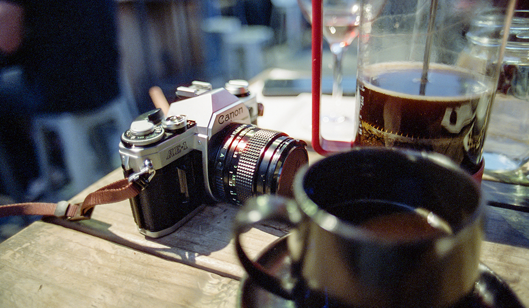 Coffee and photography lifestyle image by Joseph Berg.