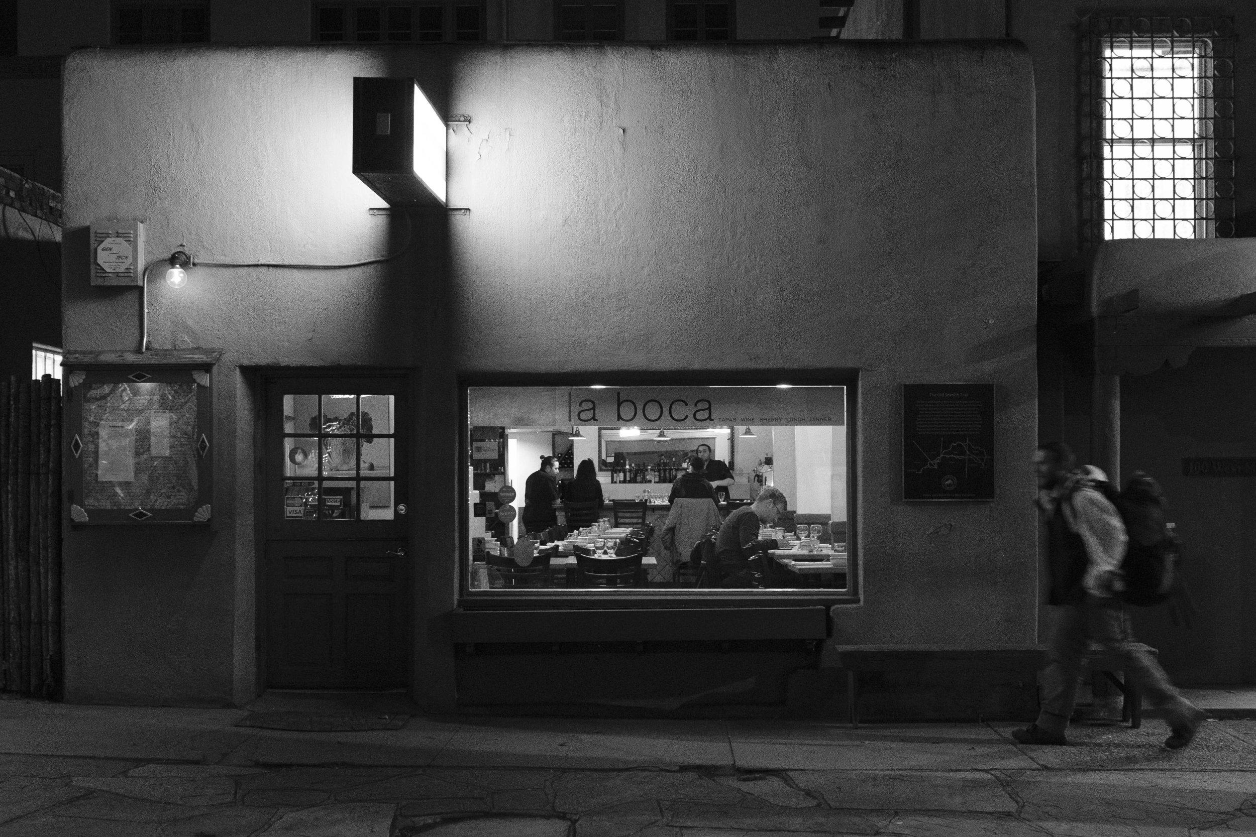 An evening at La Boca Santa Fe. Joseph Berg Photography.