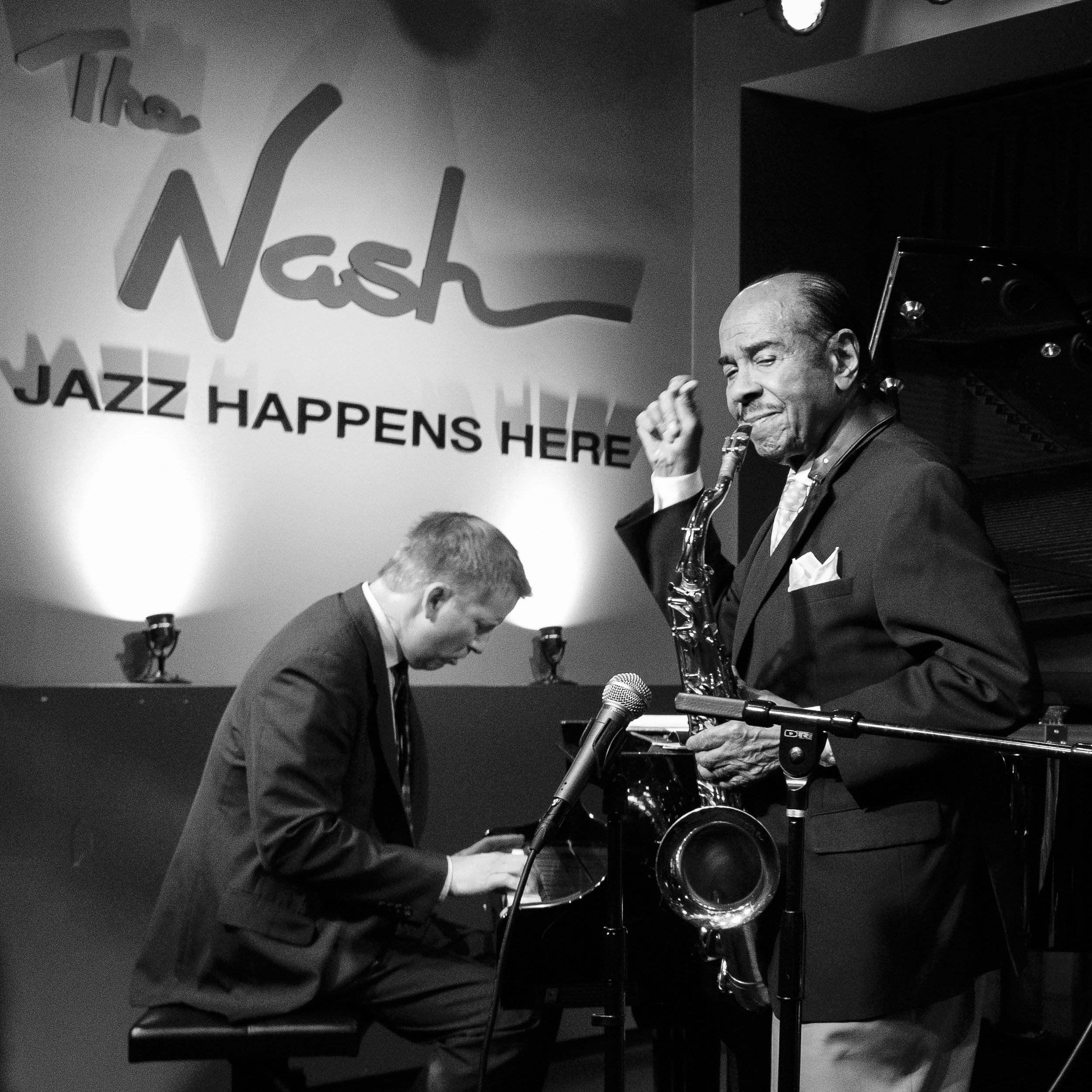 Benny Golson and Mike Kocour at The Nash