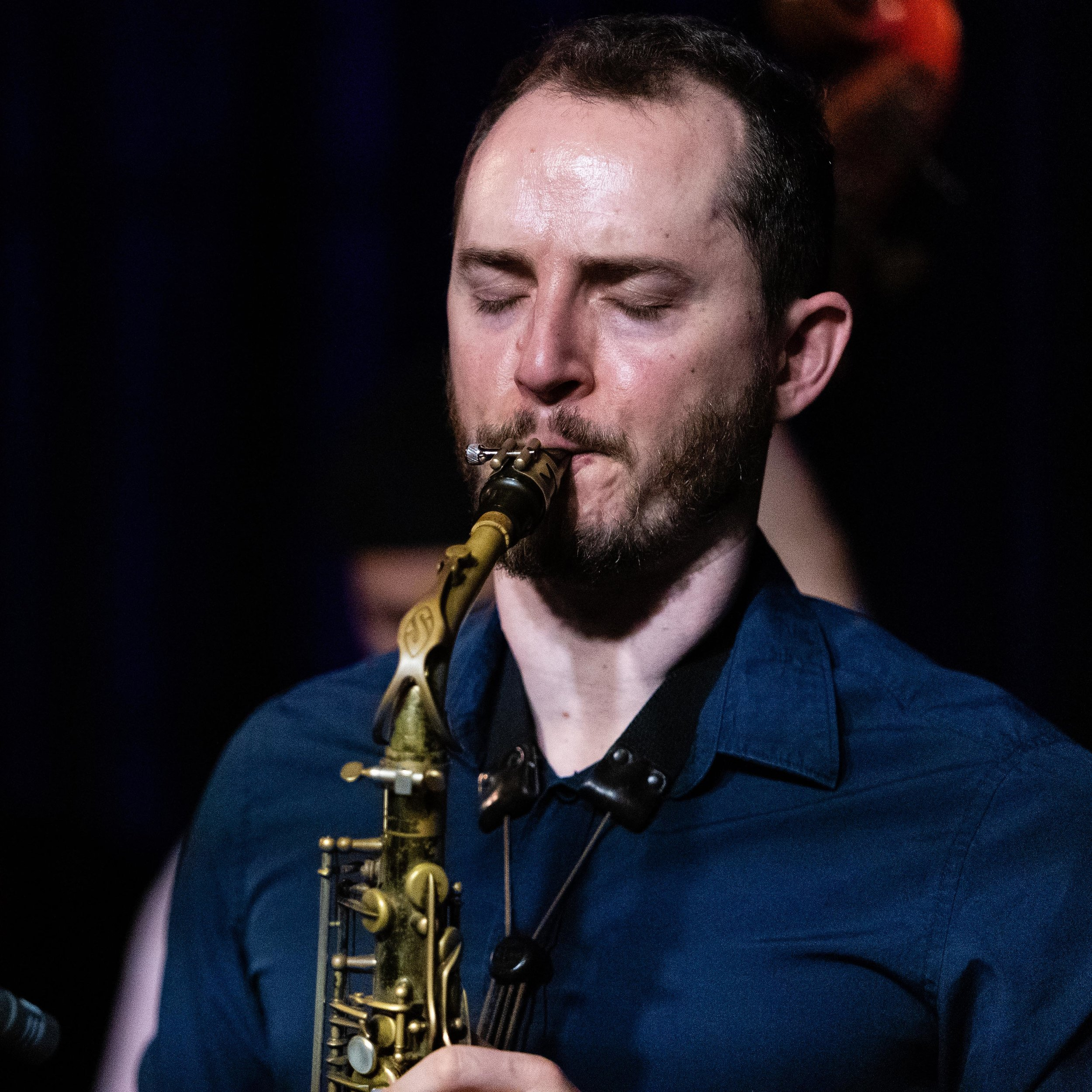 Remy Le Boeuf on saxophone at The Nash Jazz Club in Phoenix, Arizona.