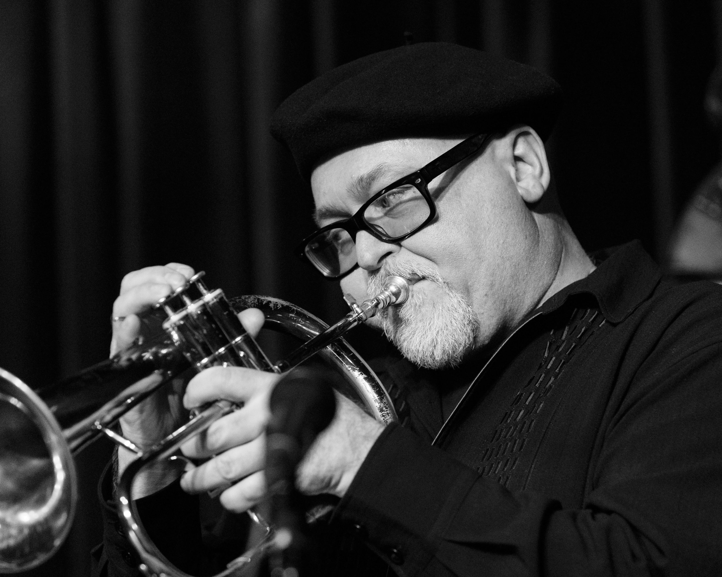 Dmitri Matheny on flugelhorn celebrating the music of Art Farmer at The Nash Jazz Club.
