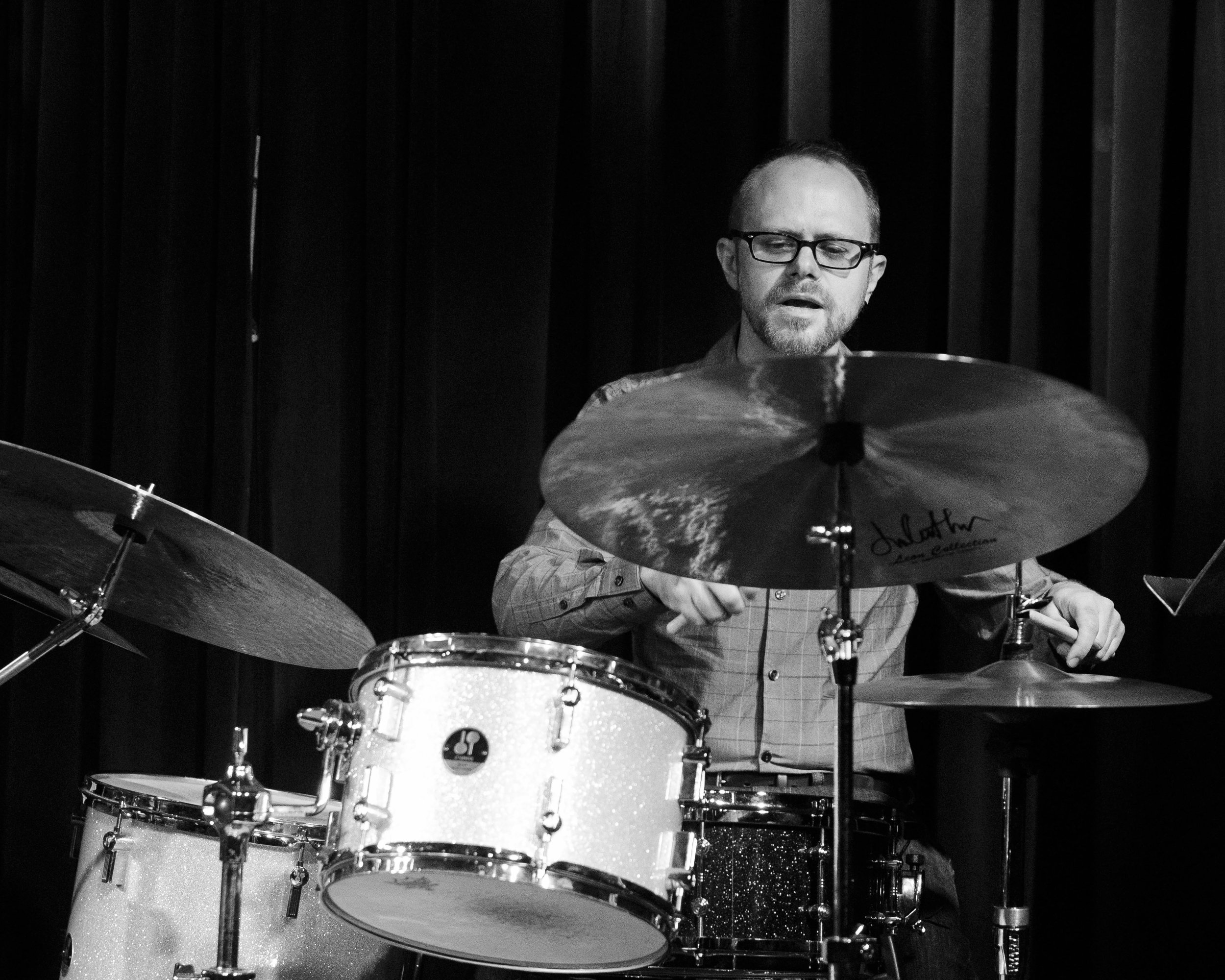 Ryan Anthony on drums with Union 32 playing scandinavian jazz