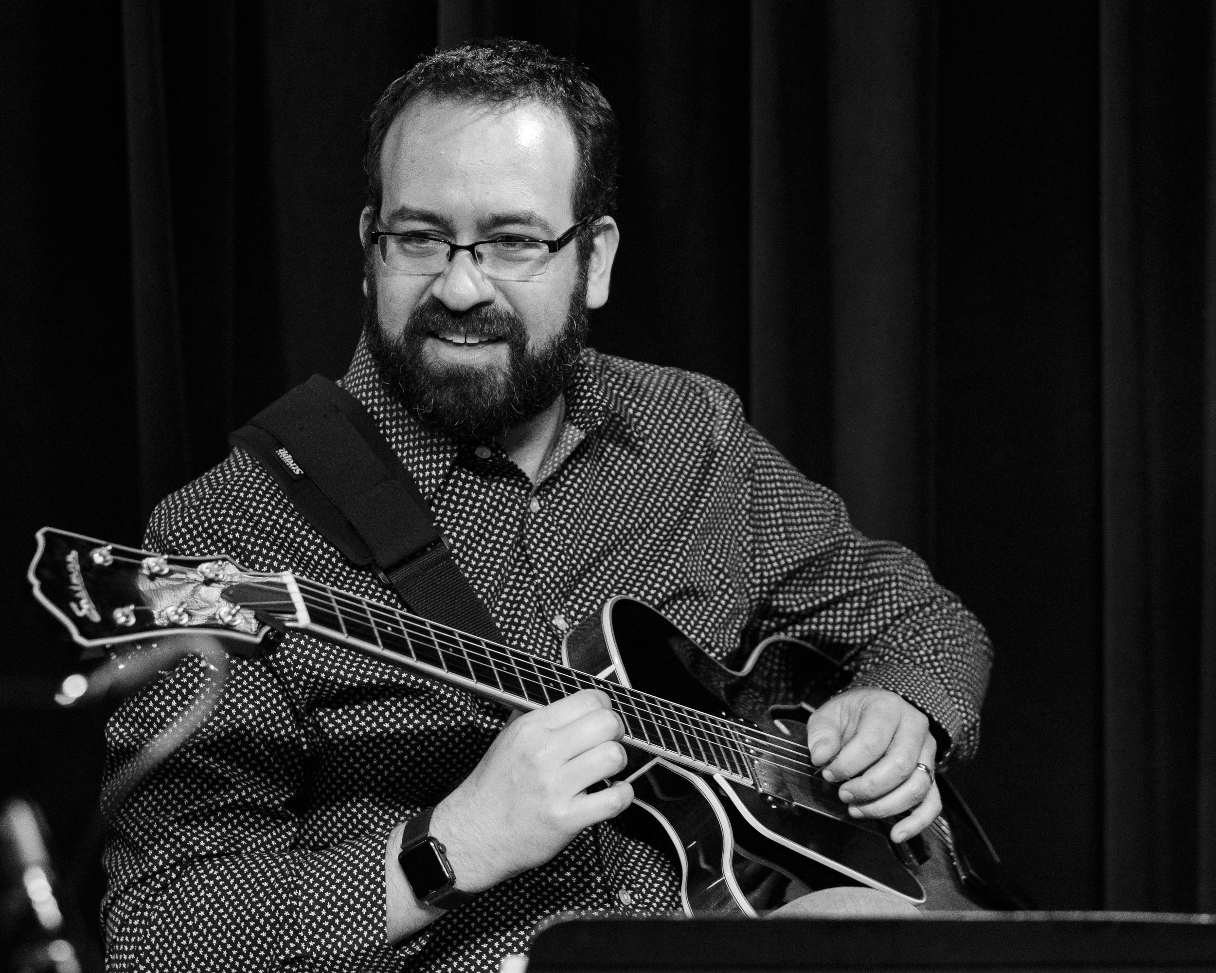 Jeff Libman on guitar with Union 32 playing scandinavian jazz