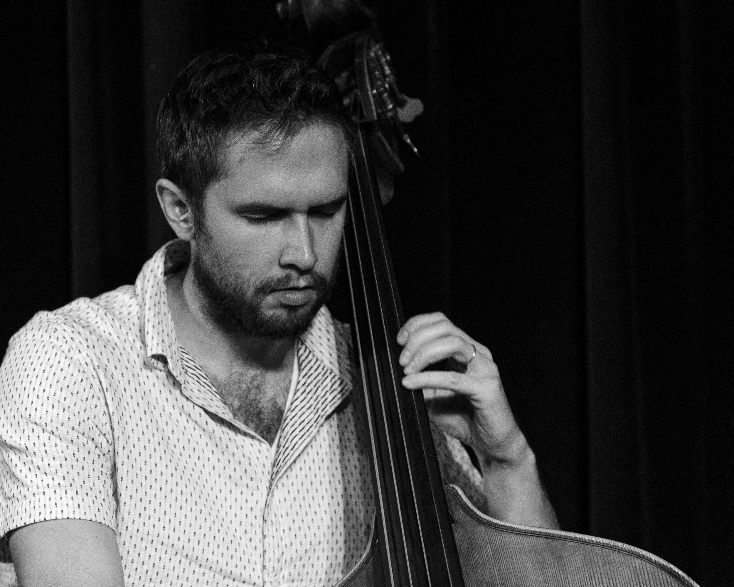 Ben Hedquist on bass with Union 32 playing scandinavian jazz