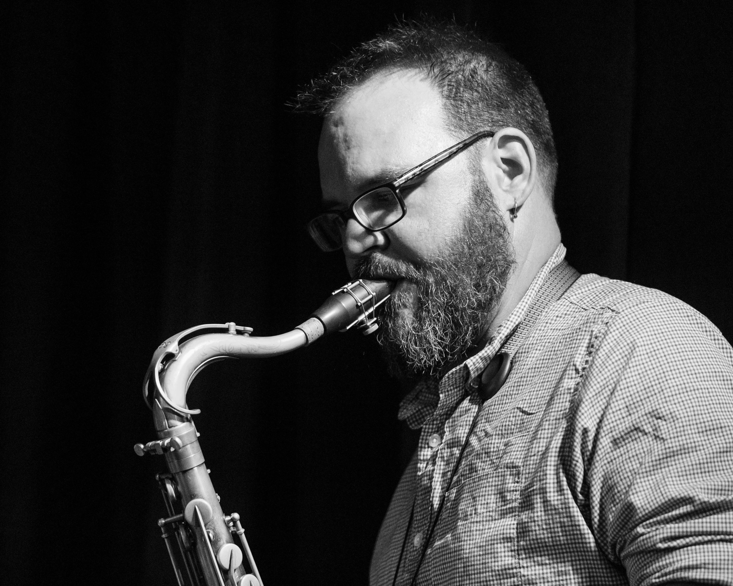 Keith Kelly on saxophone with Union 32 playing scandinavian jazz
