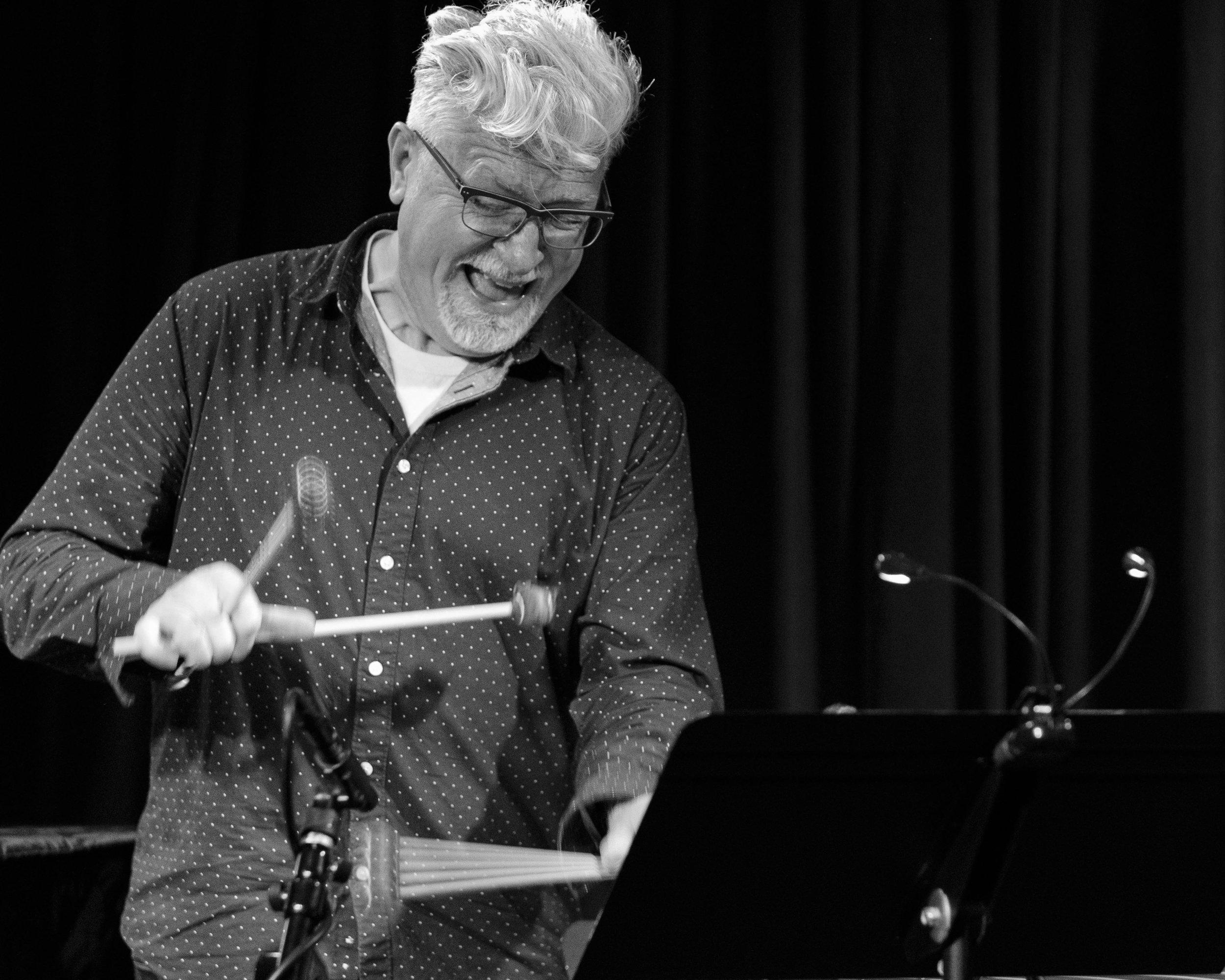 Brett Reed on vibes with Union 32 playing Scandinavian Jazz at The Nash Jazz Club - Joseph Berg Live Jazz Photography