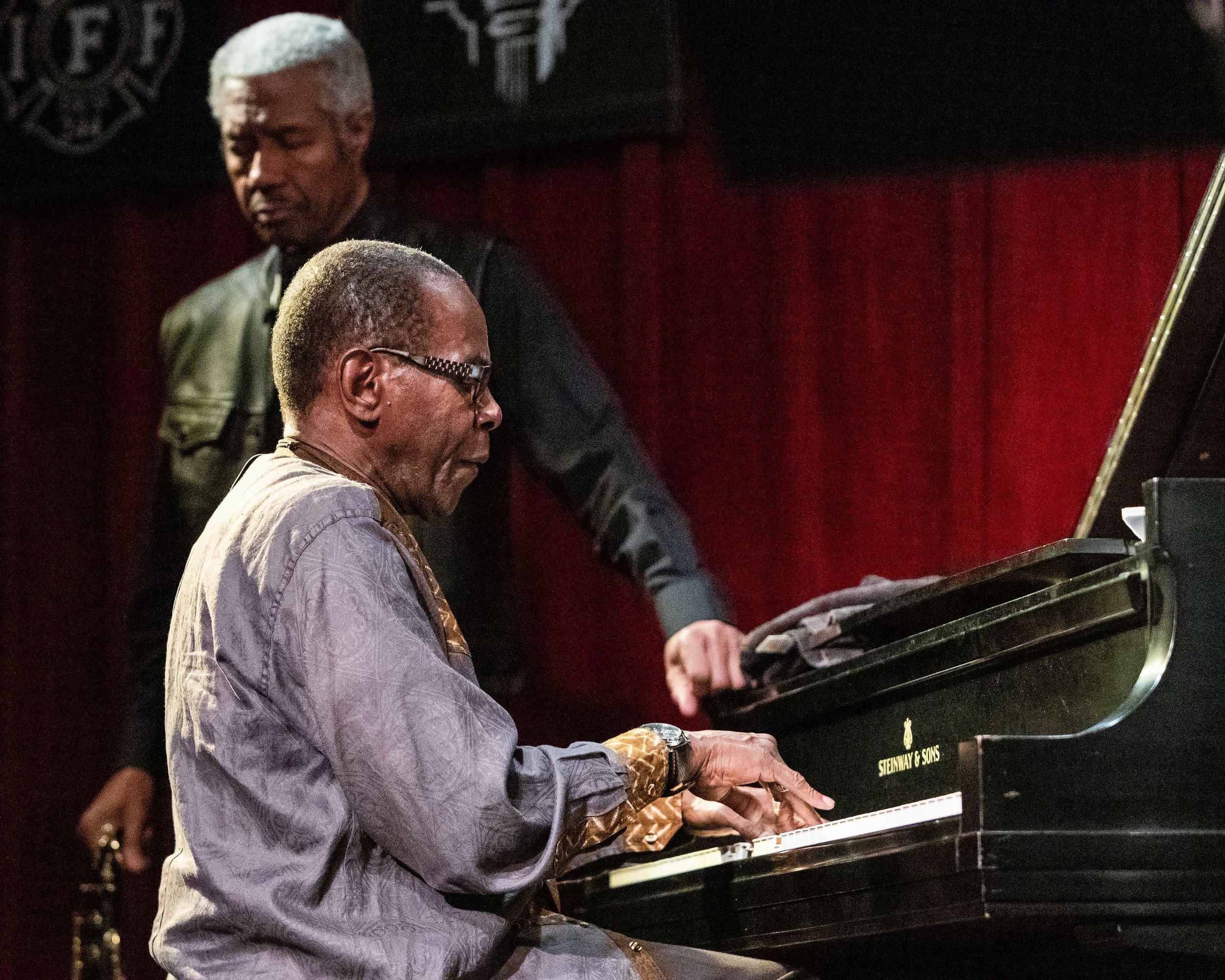 George Cables on piano with Billy Harper of The Cookers at Outpost Performance Space.