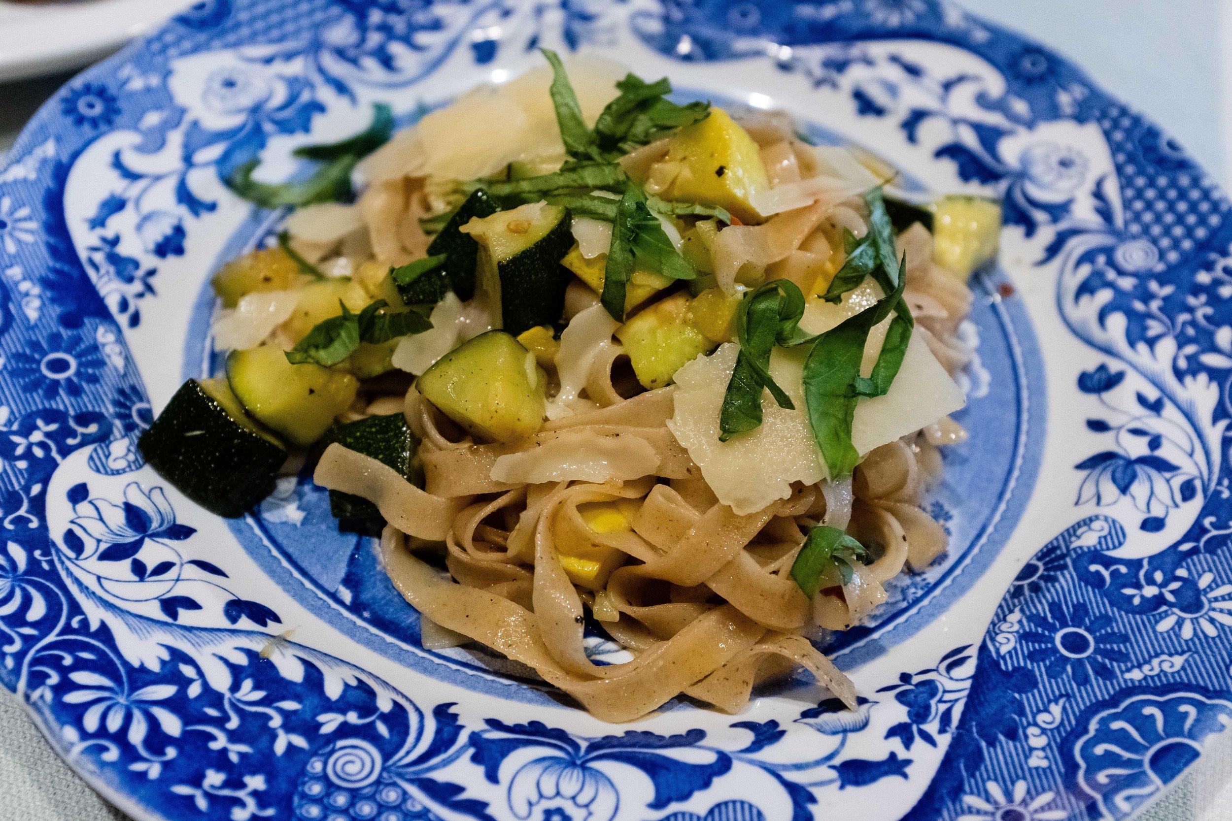 Sonoran Pasta Company of Phoenix linguine with vegtables. Joseph Berg Lifestyle Photography.