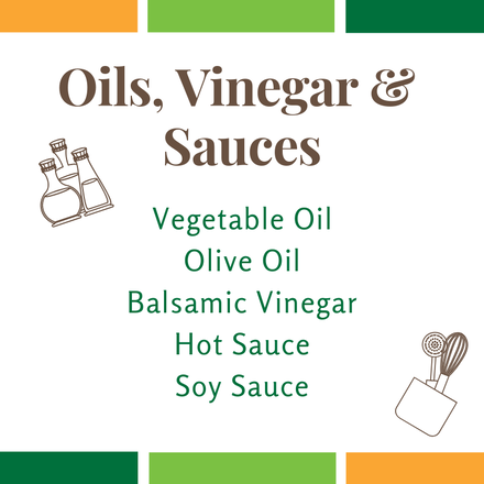 Tip:  For a healthy salad dressing, combine the oil and vinegar. Add it to your favorite Double Up produce for a simple, affordable, and colorful meal.