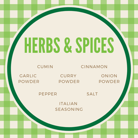 Tip:  From tacos to casseroles, these herbs and spices will enhance your meals and give your market finds a vibrant flavor boost.