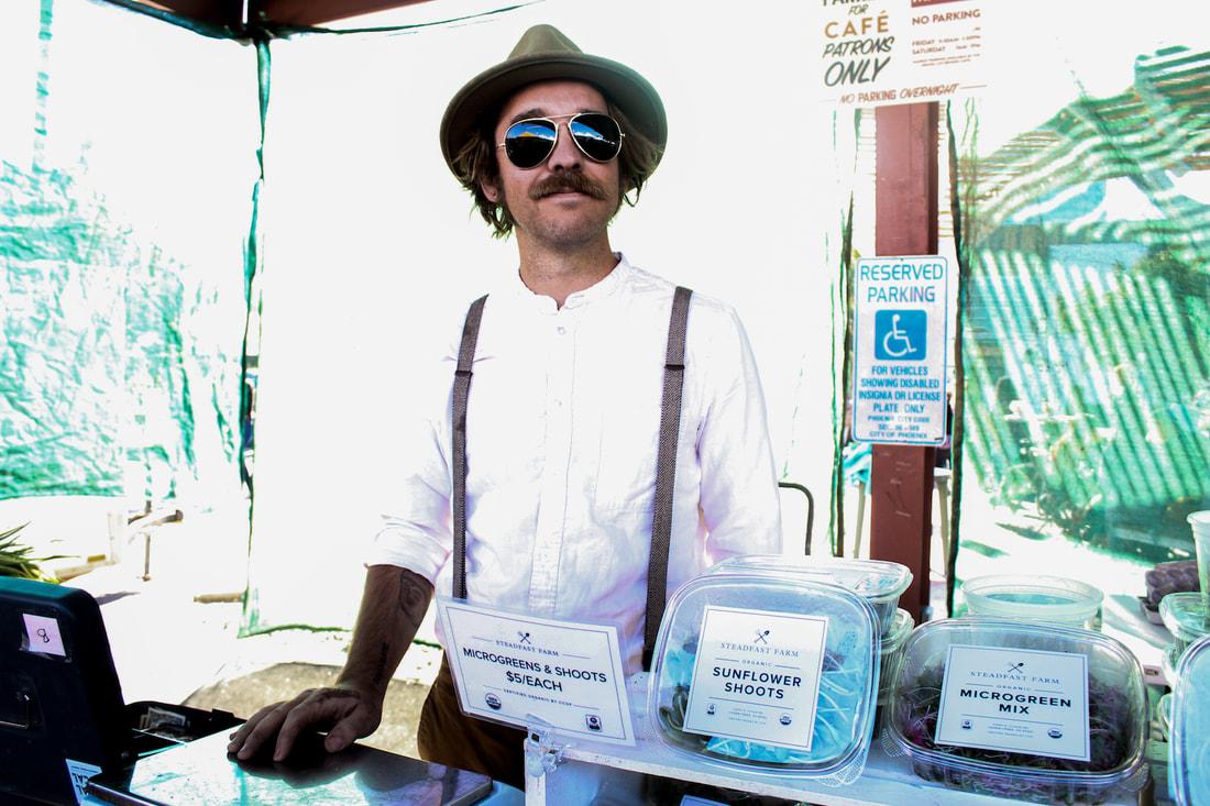 Derek Christensen of Steadfast Farm at the Saturday Open Air Market