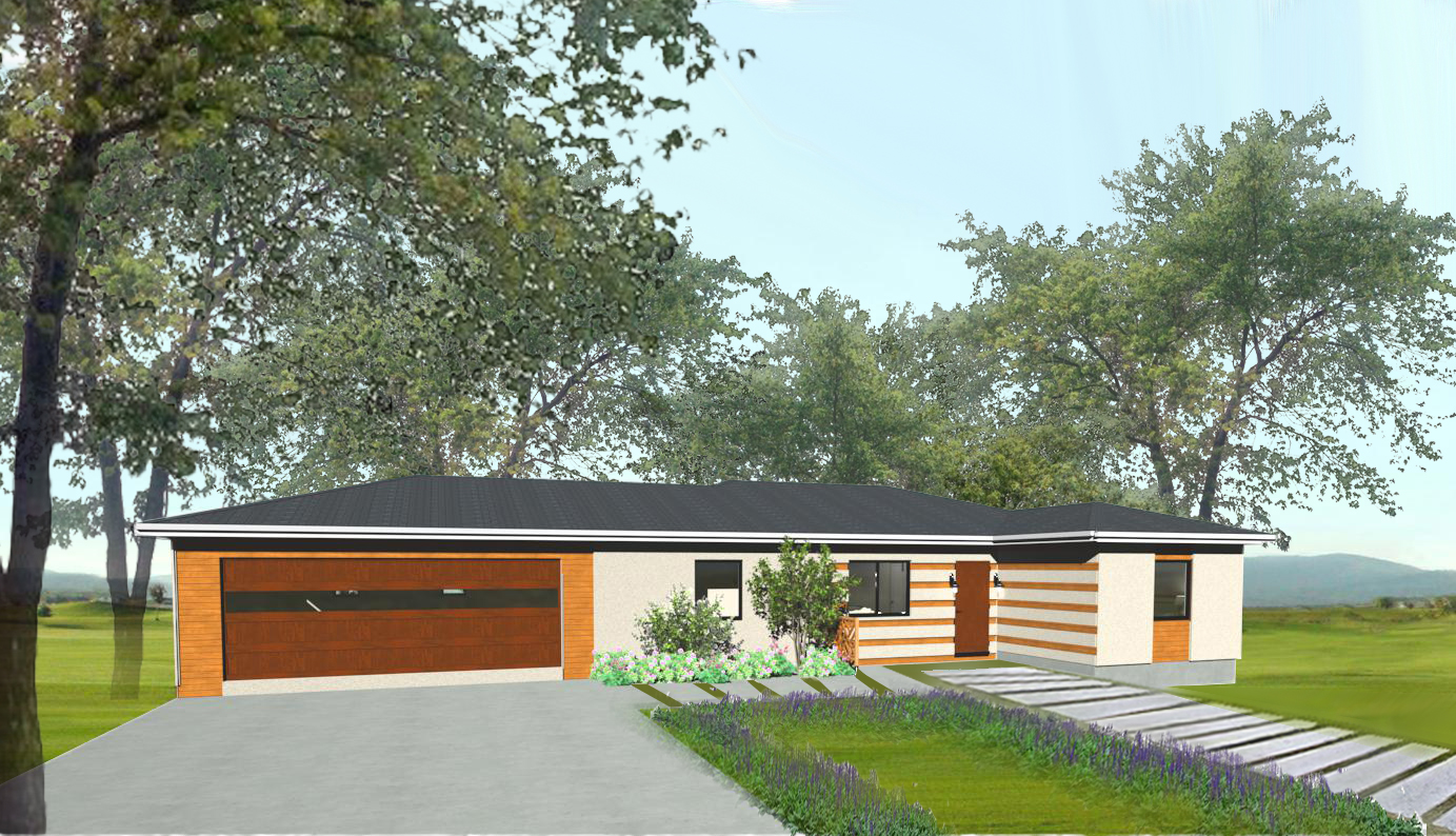 """Rancheria"" - 1244 sq. ft. - 3 bed, 2 bath, 2 car"