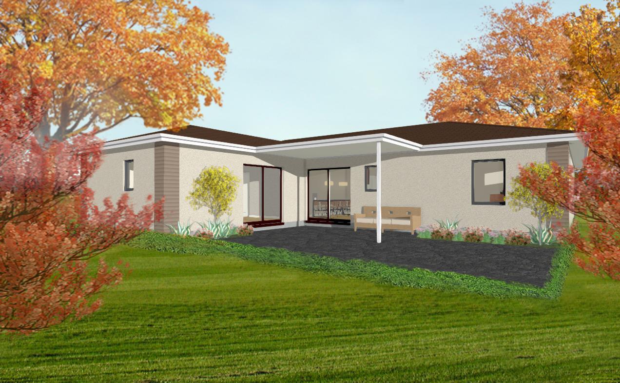 Rear facade and Porch