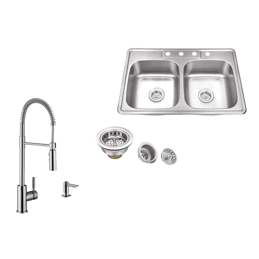 All-in-one Double Sinks