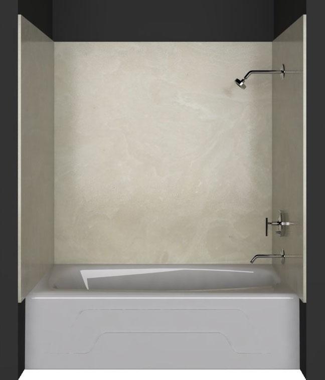 Tub/Shower wall panels: White