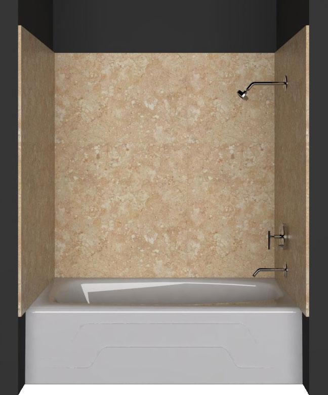 Tub/Shower wall panels: Cream