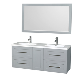 Wyndham Collection Olivia 60-in Dove Gray