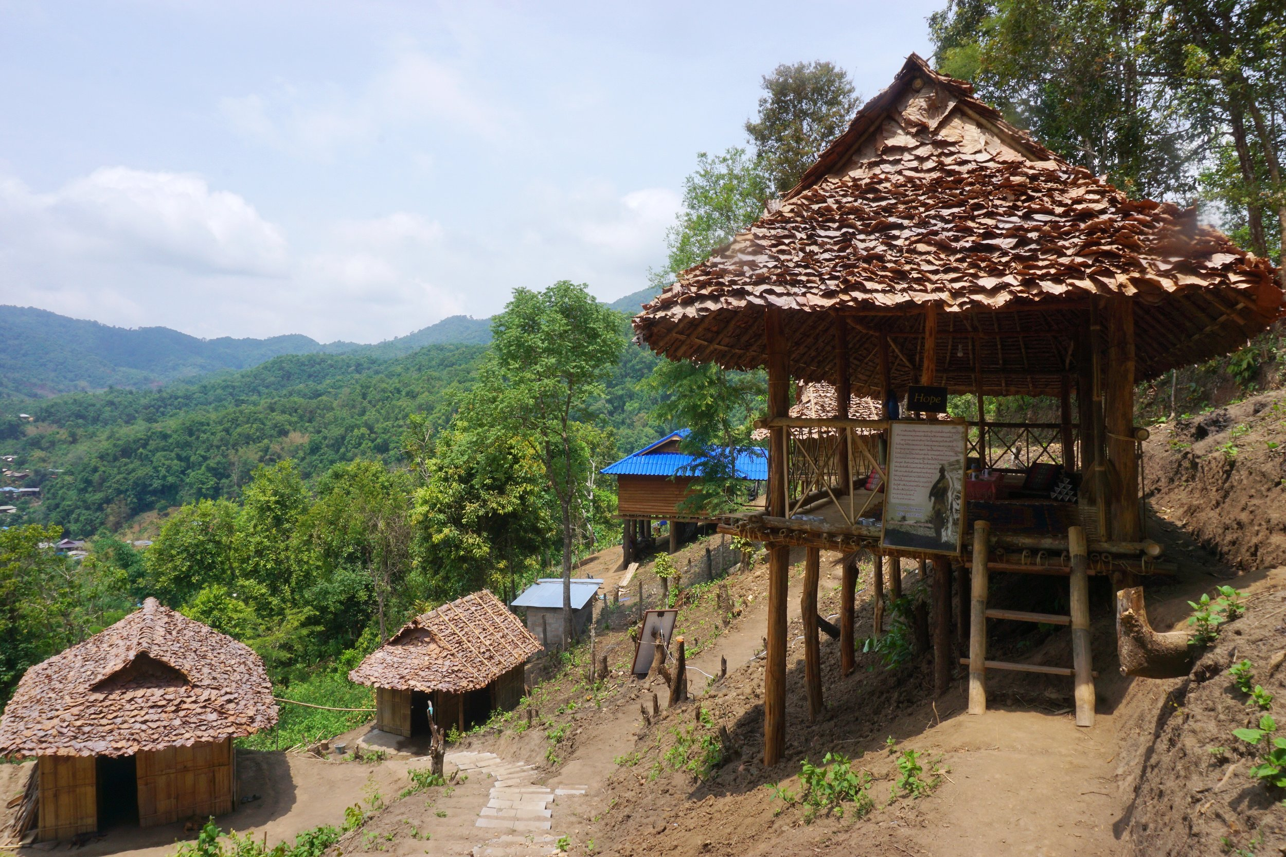 Our project is located high in the beautiful mountains in Northern Thailand.