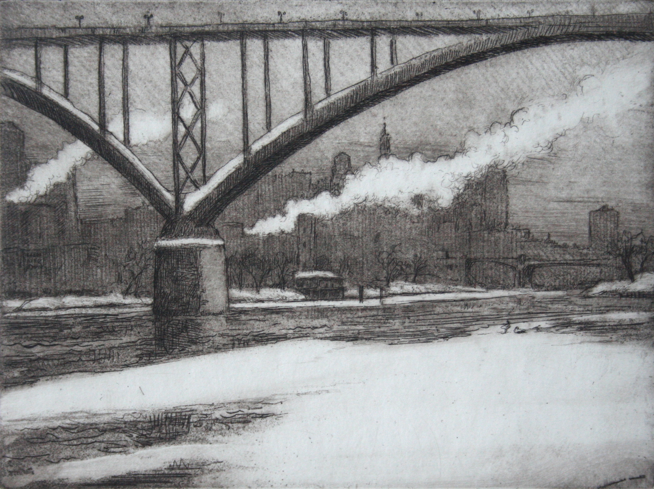 Highbridge, View of Saint Paul, 4x6""