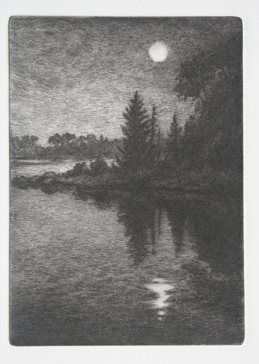 """Moonrise  4x5"""""""