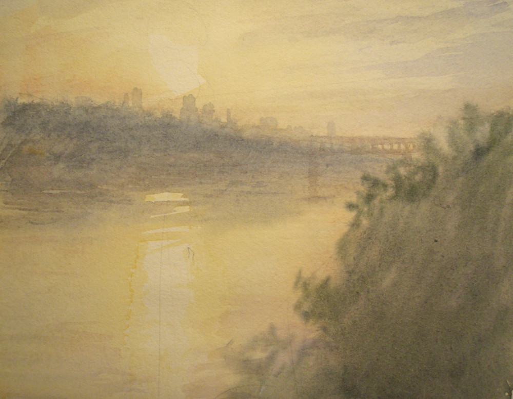 View of Minneapolis, Sunset
