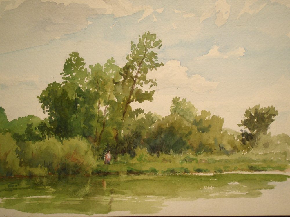 Rice Creek, 7x10""