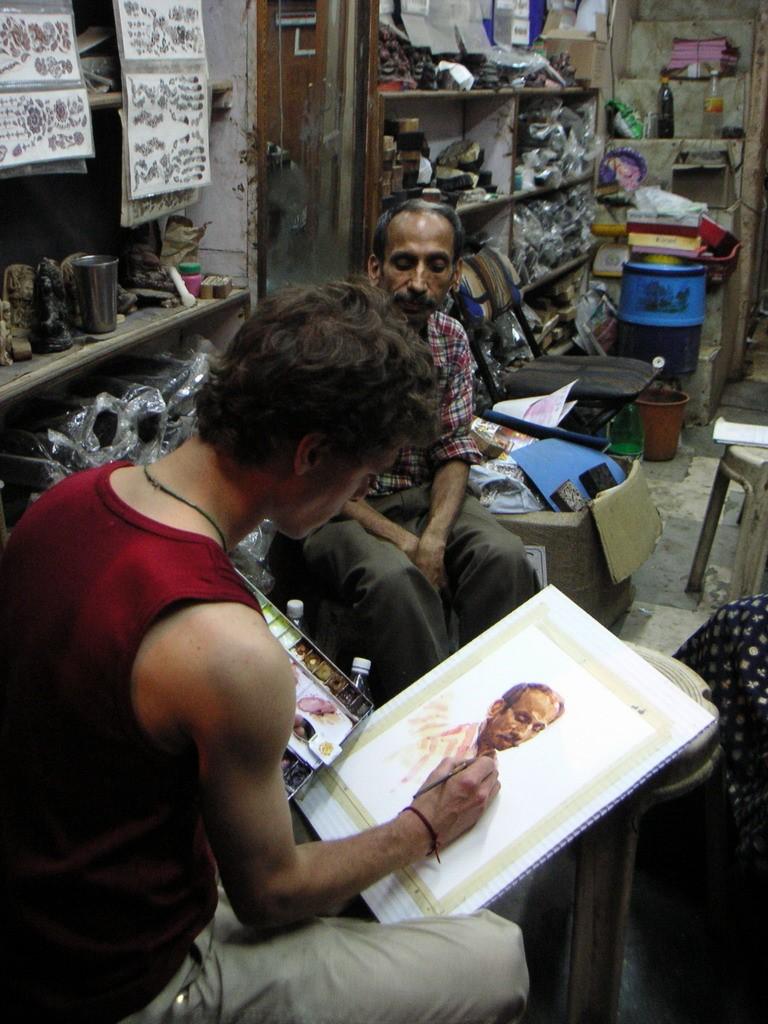 Watercolor Sketching in Delhi, India