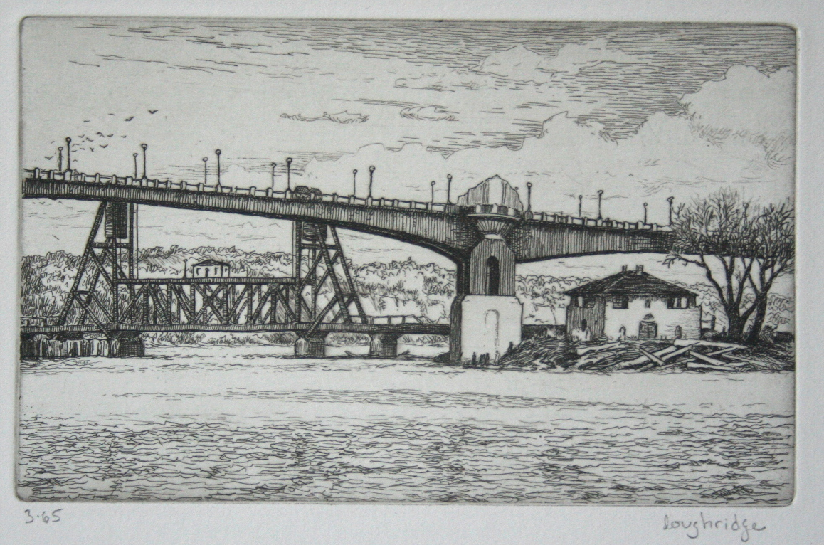 "Wabasha Bridge, Saint Paul  3x5"" edition of 75, $85"