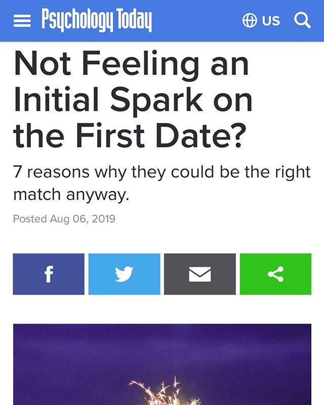 Let's talk about that elusive spark that so many people chase when dating. A common mistake that many people make is thinking that if there isn't an initial spark then this person must not be a good match for them- when in fact the opposite could be true. Wondering how someone could be the one for you without an initial spark? Check out my article on @psych_today (link in bio) that explains 7 reasons why they could still be the right match.⠀⠀ ⠀⠀ ⠀⠀ ⠀⠀ ⠀⠀ ⠀⠀ ⠀⠀ ⠀⠀ ⠀⠀ #psychologistsofinstagram #wednesdaywisdom #relationships #mindfuldating #consciousdating #empowereddating #datingandmating #relationshippatterns #dating #datingpatterns #attachmentstyles #subconciousattraction #chicagopsychologist #attachment #datingdilemma #datingtips #lovelessons  #slowburn #initialspark #elusivespark #theperfectmatch #therightmatch #firstimpressions #attractioncangrow #mindfulliving #mindfulmindset #loveblinders #lovegoggles #datingwithblinderson #drroxyzarrabi ⠀⠀