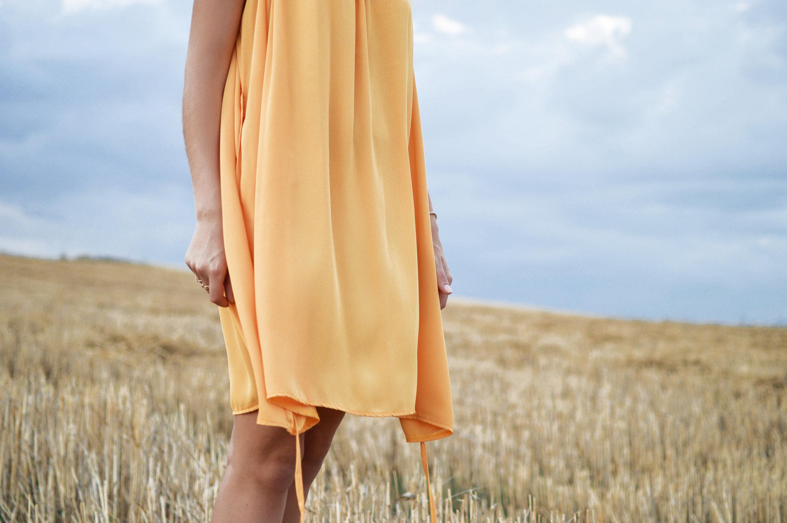 Get Peach Mini Dress Here