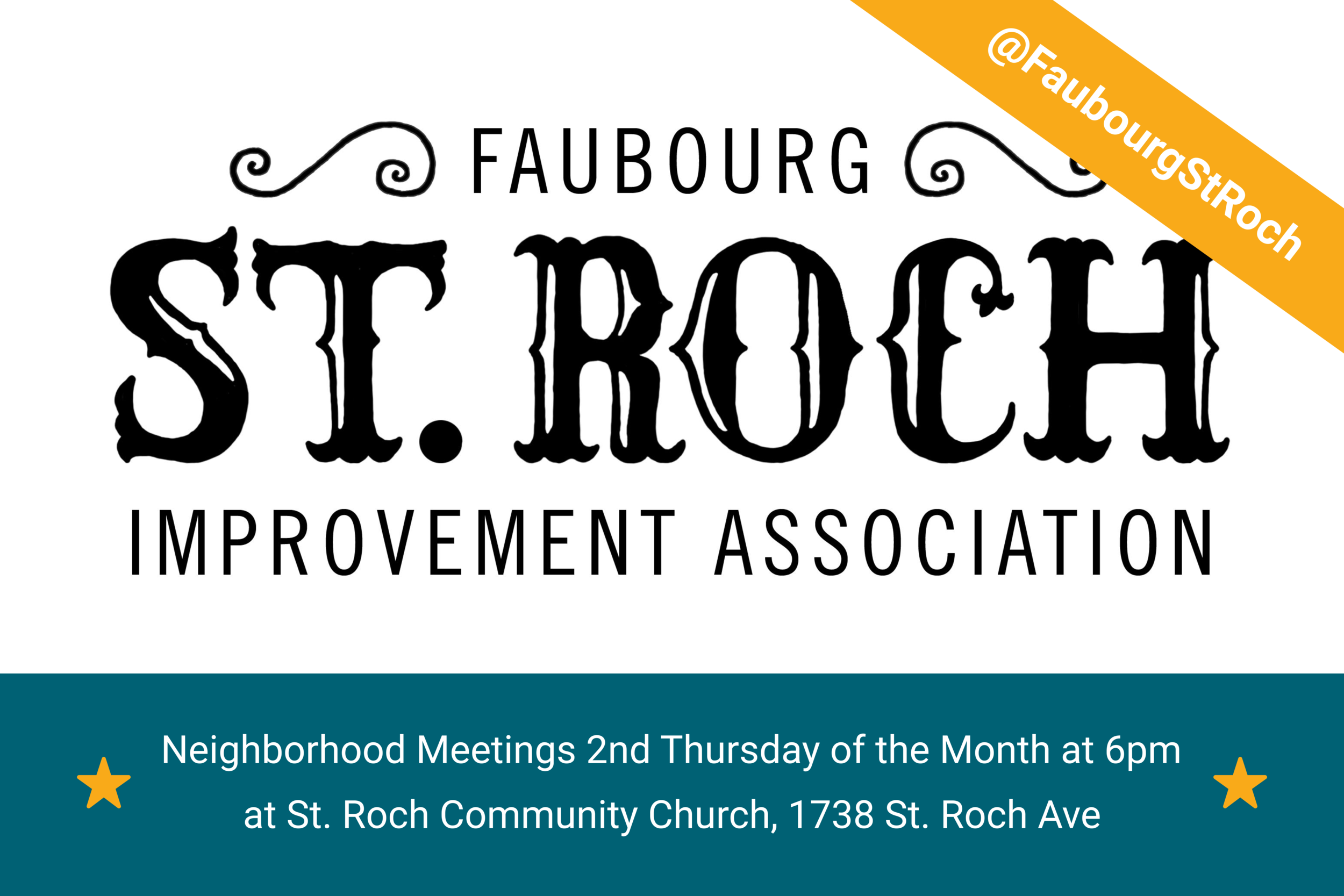 Receive a St. Roch yard sign when you donate  $5  or more.