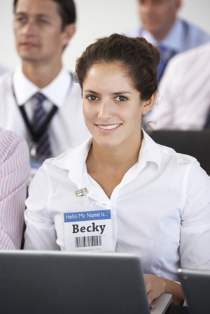 Track Attendance - A name badge barcode scanner makes it easy to track attendance at conferences and seminars.