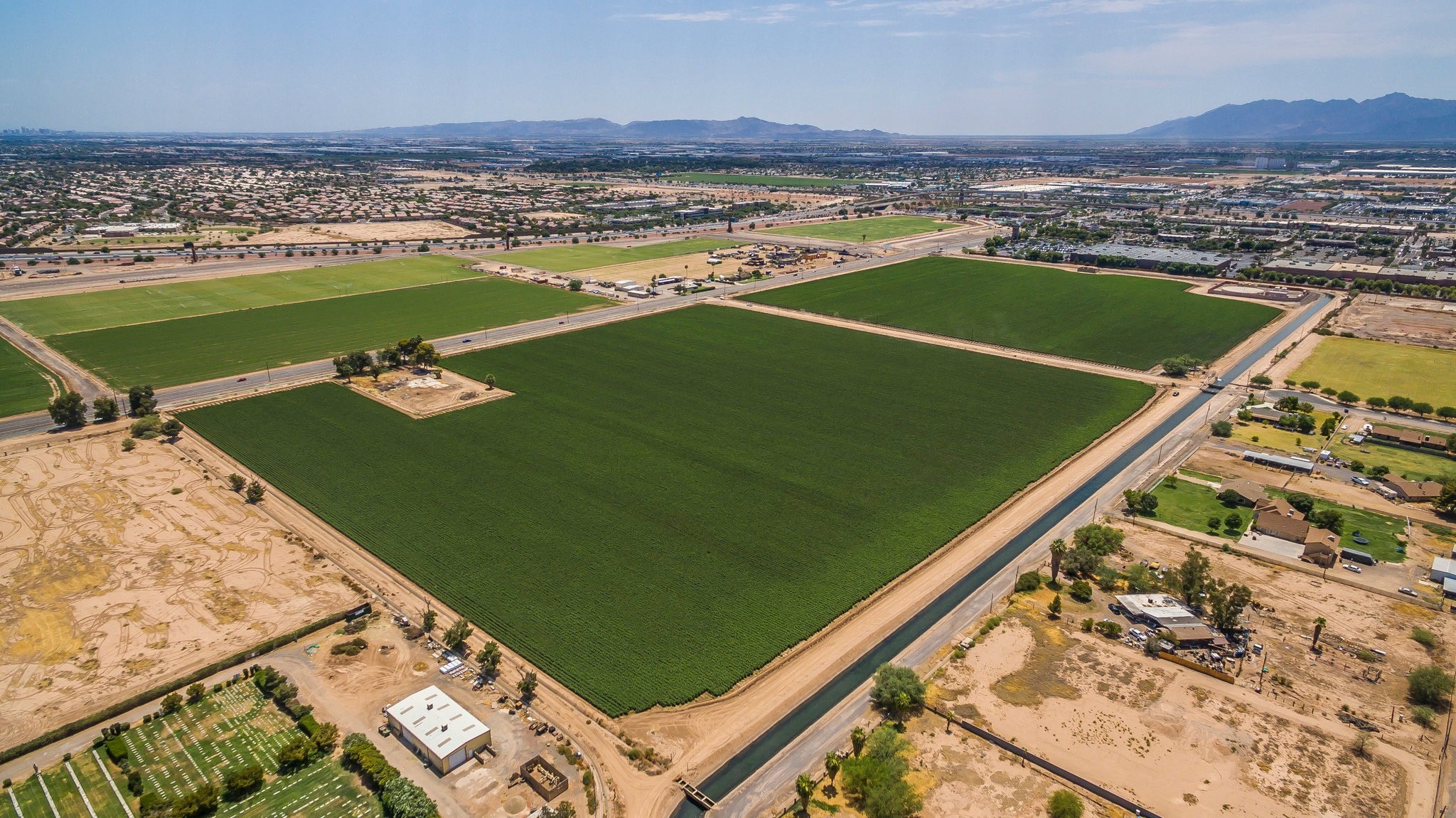 The SpringHill Suites by Marriott project site in Avondale, Ariz. Most of the projects spurred so far by the Opportunity Zone designations are real estate.  (Virtua Partners, via PR Newswire)