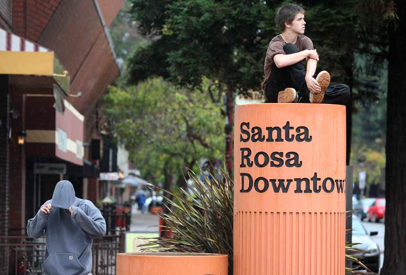 "Downtown Santa Rosa has been designated an ""opportunity zone"" under the 2017 federal tax law. (CHRISTOPHER CHUNG / The Press Democrat)"