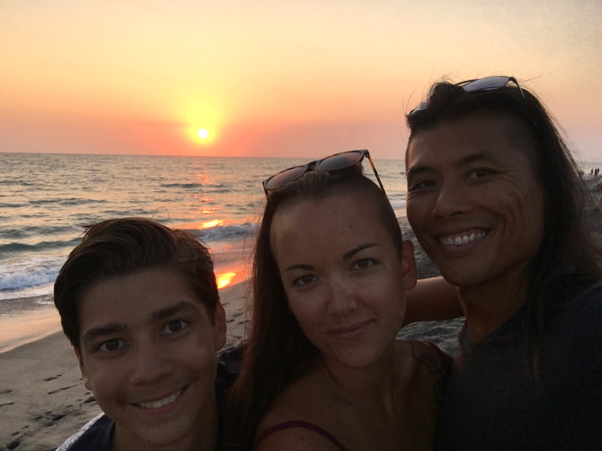 Whitney with her husband, Andrew (Australian-born Chinese), and her step-son, Lucjan, who also happens to be mixed (white and Chinese) near Encinitas, California (2018).