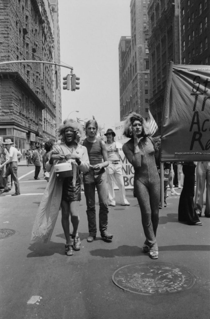 Marsha P. Johnson (left) and Sylvia Rivera (right), trans women of color activists who are credited with being two of the key figures behind the Stonewall Riots and the original Pride movement in New York City.  Photo credit: Leonard Fink.