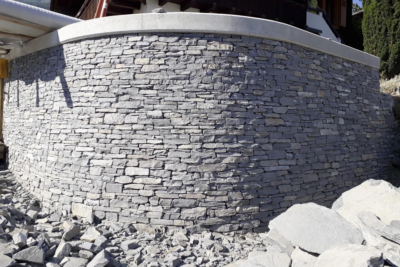 Revêtement de mur en pierres 300m² (pierres de Vollèges)