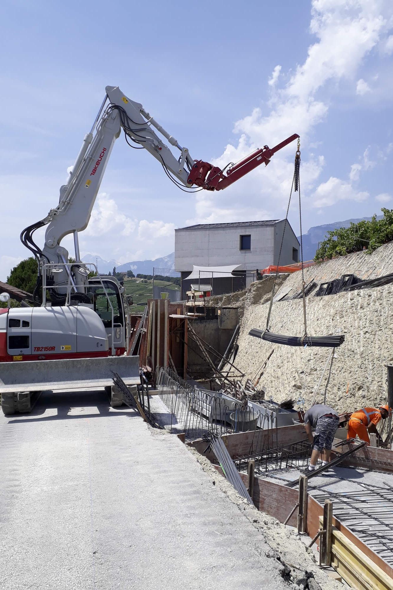 Construction des murs de soutènement béton