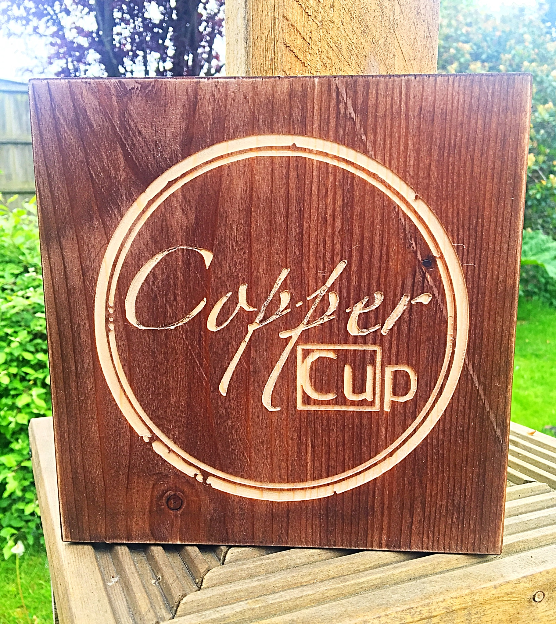 It was wonderful to work on this rustic sign with Lauren at Copper Cup. It will be lovingly finished with a copper frame and we cannot wait to see the result!  For handmade, copper home accessories and gifts, visit their shop and find out more  here