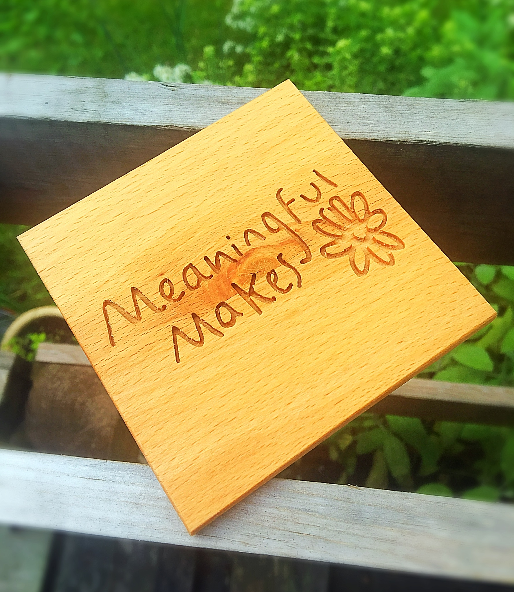We were delighted to make a solid beech business logo coaster for the lovely Meaningful Makes. They are a new business who are starting out selling handmade gifts, home decor, personalised presents and seasonal items.  Check out their Etsy store  here .