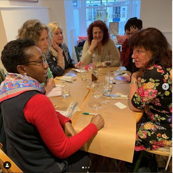 Wonderful women talking and networking together.