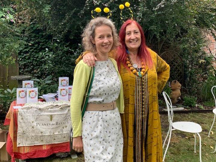 Bee goddess, Paula Carnell and Lynne Franks.