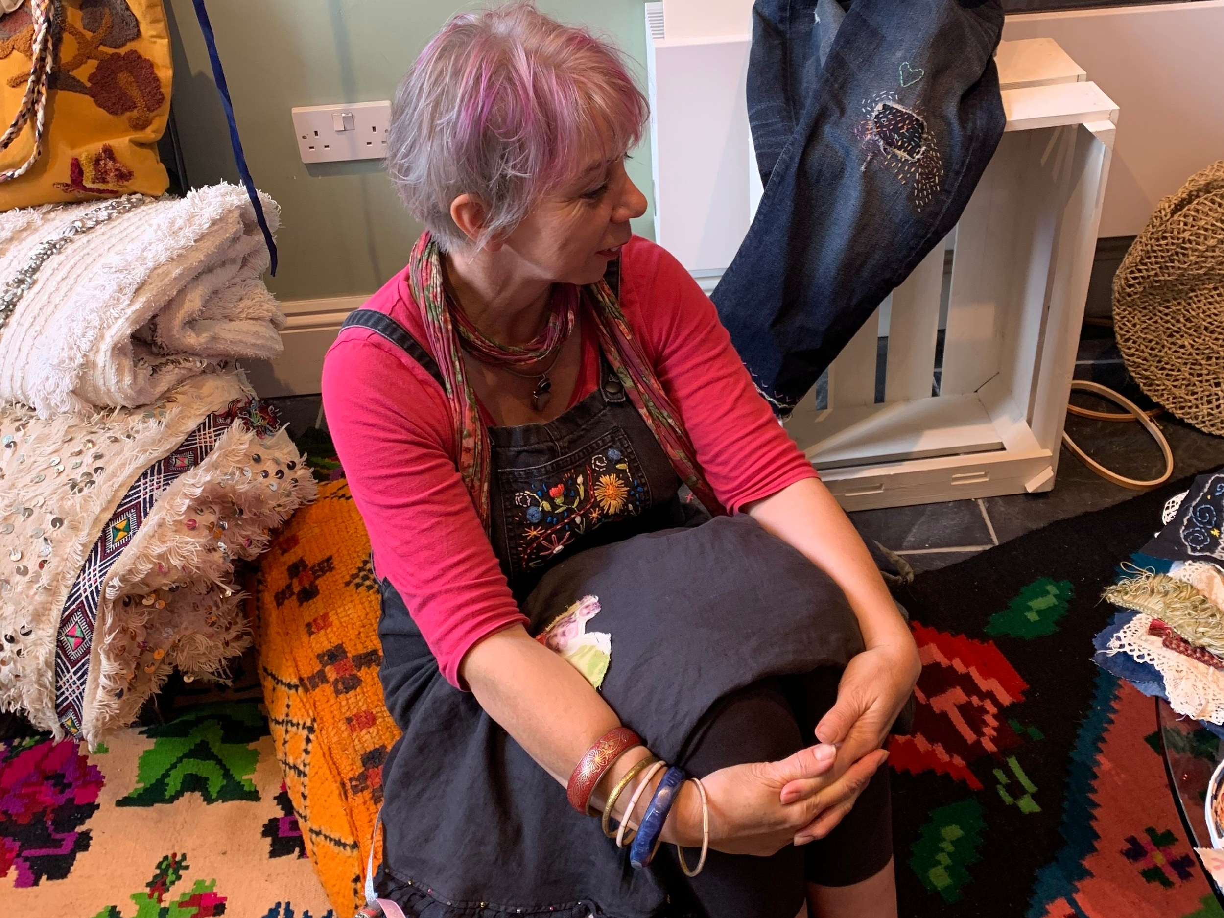Textile artist Tamsyn Gregory in Shop at No.4.
